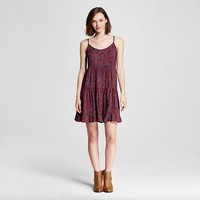 Women's Paisley Tiered Babydoll Dress - Mossimo Supply Co. ™ (Junior's)