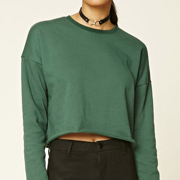 Fleece-Lined Crop Top