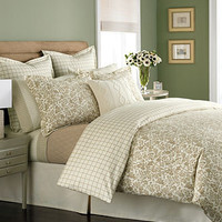 CLOSEOUT! Martha Stewart Collection Bedding, Wildwood Flannel Full/Queen Duvet Cover - Bedding Collections - Bed & Bath - Macy's