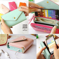 Multi propose envelope wallet case Purse for Galaxy S2,S3,iphone 4,4S #002
