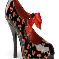 Black Red Patent Faux Leather Cherry Print Maryjane Heels @ Wowpink Heel Shoes online store sales:Stiletto Heel Shoes,High Heel Pumps,Womens High Heel Shoes,Prom Shoes,Summer Shoes,Spring Shoes,Spool Heel,Womens Dress Shoes,Prom Heels,Prom Pumps,High Heel