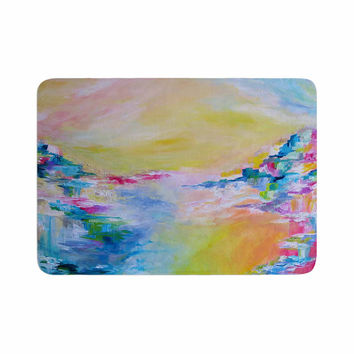 "Ebi Emporium ""Something About the Sea"" Yellow Multicolor Memory Foam Bath Mat"