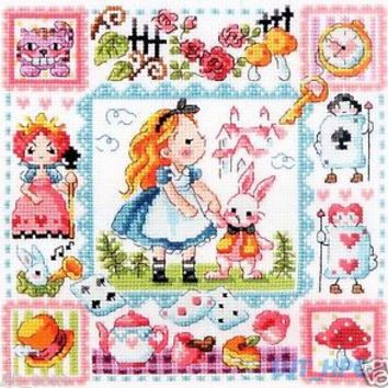 """Alice in Wonderland"" Counted cross stitch chart.(pattern leaflet) SODA SO-3177"