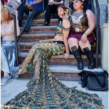 Custom Sequined Mermaid Skirt/Tail- Little Mermaid Costume, Ariel, Coney Island Parade