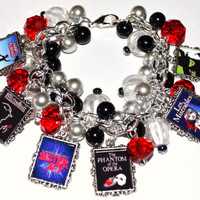 CUSTOM BROADWAY MUSICALS Charm Bracelet Altered by Free2BDesigns