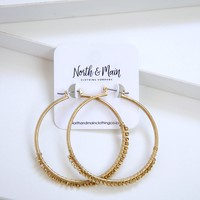 Camila Hoop Earrings, Gold