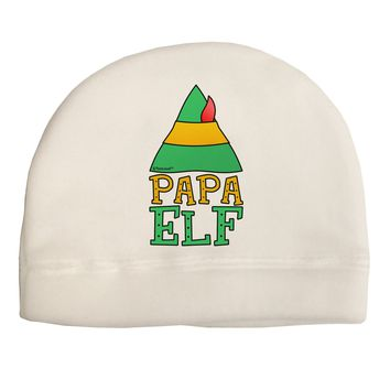Matching Christmas Design - Elf Family - Papa Elf Child Fleece Beanie Cap Hat