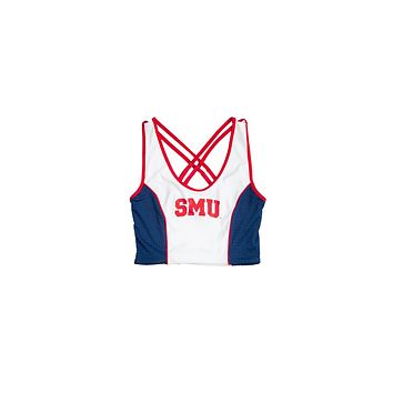 Southern Methodist University Sporty Cropped Tank