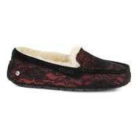 UGG ANSLEY ANTOINETTE SLIPPER IN BURGUNDY WINE