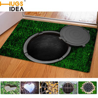 HUGSIDEA 40*60cm Entrance Carpets Funny Rubber 3D Trap Printed Carpet For Living Room Bathroom Floor Mats Kitchen Rugs Alfombras