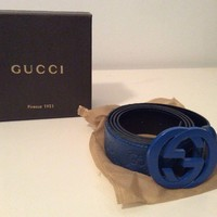Authentic Mens Gucci Belt 46. 121282. New In Box