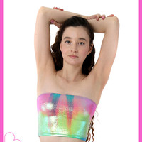Rainbow Melt Tube Top