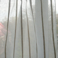 White Curtain Lace Curtains Cafe Curtains Linen Curtains Kitchen Curtains Shabby Chic Curtains Panels