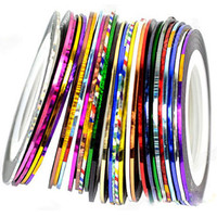Fashion 10X Colors Rolls Striping Tape Line Nail Sticker DIY Kit Art UV Gel Tip