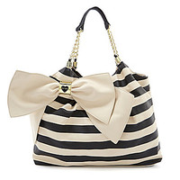 Betsey Johnson Bow-Licious Striped Tote