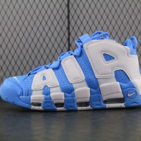Nike Air More Uptempo White For Women Men Running Shoes Sneakers Blue