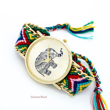 Elephant bracelet watch (3 colors)