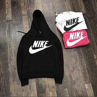 Nike Letter Logo Print Cotton Sports Long Sleeve Women Casual Sweatshirt Shirt Top Blouse T-Shirt