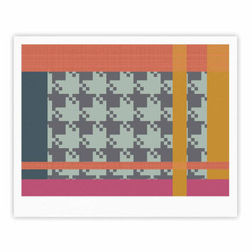 "Pellerina Design ""Houndstooth Color Block"" Multicolor Contemporary Fine Art Gallery Print"