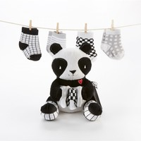 Panda Paws Gift Set - Plush Panda & Socks for Baby
