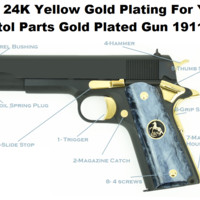 Pure 24K Gold Plating For Your Pistol Parts Gold Plated Gun 1911