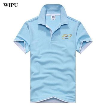DCCKKFQ 2018 Summer Men Polo Shirt Curry 30 Style Plus Size printing Breathable Cotton Polo Shirts