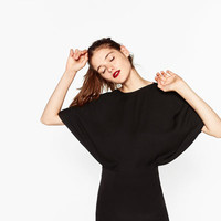 DRESS WITH CAPE TOP DETAILS