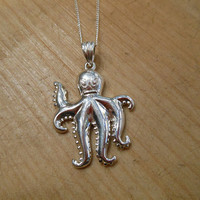 Sterling Silver Octopus Necklace | Candy's Cottage