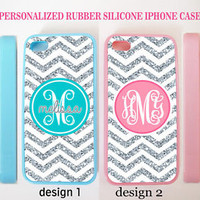 NEW PERSONALIZED CHEVRON (w/out glitter) MONOGRAM CASE FOR IPHONE 7 6S PLUS SE 5