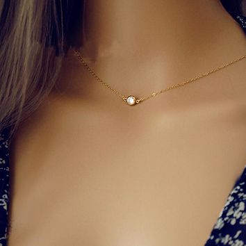 Gold Backdrop Necklace