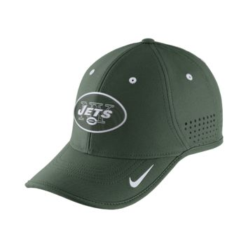 Nike True Vapor (NFL Jets) Adjustable Hat (Green)