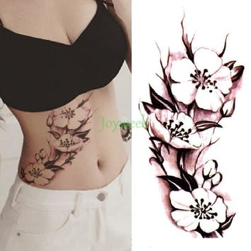 27 designs Waterproof Temporary Tattoo Sticker China ink flower rose peony tatto stickers flash tatoo fake tattoos for women