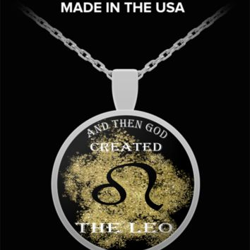 And Then God Created Leo Pendant Necklace