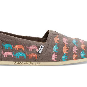 TOMS Haiti Multi Elephants Women's Classics Grey