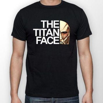 Cool Attack on Titan The  Face  Anime t-shirt Brand Cotton Men Clothing Male Slim Fit T Shirt Sleeve Harajuku Tops AT_90_11