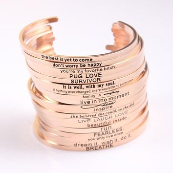 Good Vibes Mantra Bangle