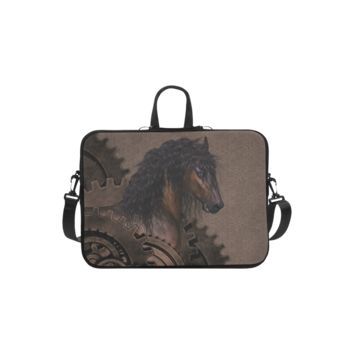 Personalized Laptop Handbag Steampunk Horse Macbook Air Shoulder Bag 11 Inch
