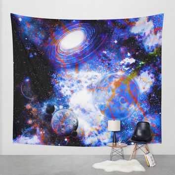 Galaxy Wall Tapestry by Haroulita