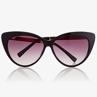 oversized cat eye metal arm sunglasses from EXPRESS