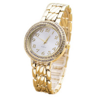 Womens Classic Gold Strap Watch