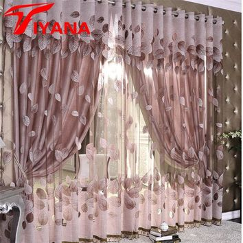 Luxury Modern Leaves Designer Curtain