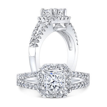 Engagement Ring, Diamond Ring, Square Ring, Square Diamond, Bridal Ring, Engagement Diamond Ring, Square Brilliant, Engagement Jewelry
