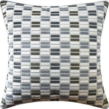 Jubilee Blue and Brown Decorative Pillow