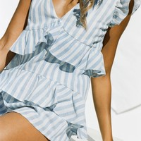 Nola Playsuit - Stripe - Playsuits by Sabo Luxe