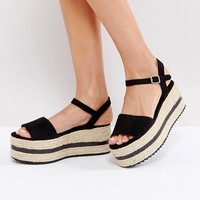 Pull&Bear Espadrille Wedge Sandals at asos.com