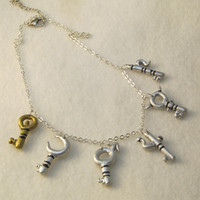 Unlocked Memories - Chapter Complete Keys - Alice Madness Returns inspired statement necklace