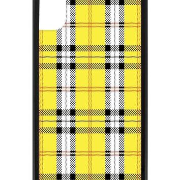 Yellow Plaid iPhone X Case