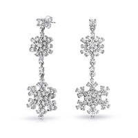 Bling Jewelry Snow Shine Earrings