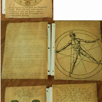 Secret Circle Replica Spell Pages Set 2 (Mounted Pages)
