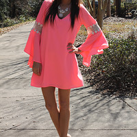 Picking Flowers Dress,Neon Pink